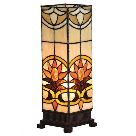 Tafellamp Tiffany 12*12*35 cm E14/max 1*40W Meerkleurig | 5LL-5779 | Clayre & Eef