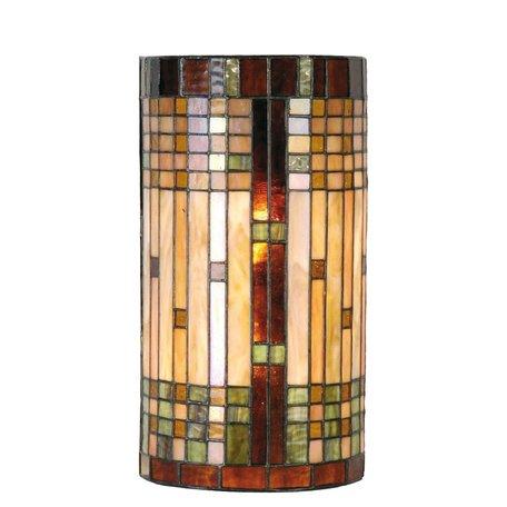 Wandlamp Tiffany 20*11*36 cm E14/max 2*40W Meerkleurig | 5LL-9112 | Clayre & Eef
