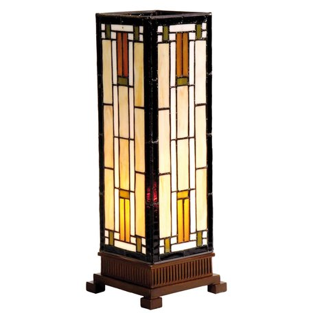 Tafellamp Tiffany 12*12*35 cm E14/max 1*25W Multi | 5LL-9332 | Clayre & Eef
