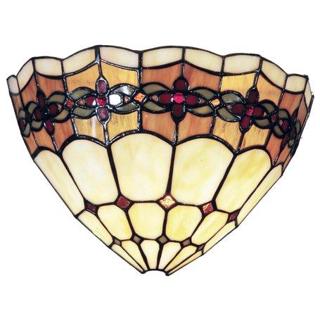 Wandlamp Tiffany 30*14*20 cm E14/max 1*40W Meerkleurig | 5LL-9884 | Clayre & Eef