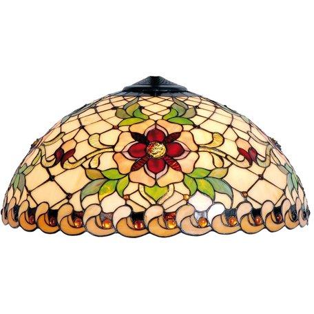 Lampenkap Tiffany ø 50*25 cm Meerkleurig | 5LL-9931 | Clayre & Eef