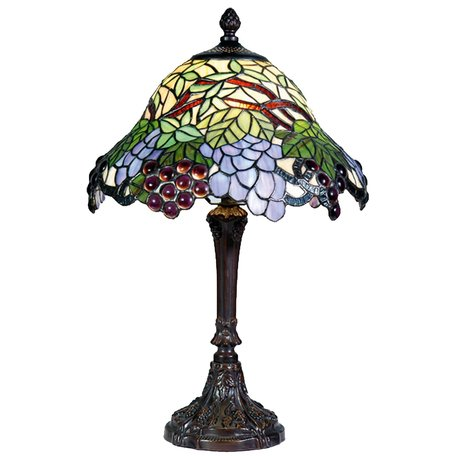 Tafellamp Tiffany ø 30*48 cm E27/max 1*60W Multi | 5LL-789 | Clayre & Eef