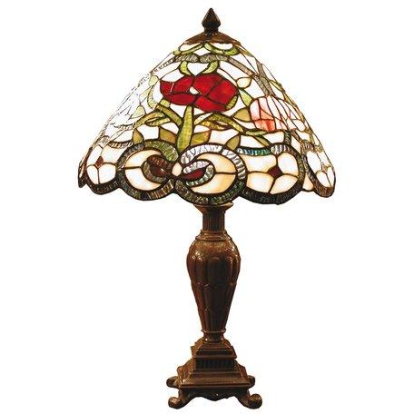 Tafellamp Tiffany ø 32*47 cm E27/max 1*40W Multi | 5LL-8837 | Clayre & Eef
