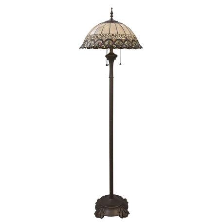 Vloerlamp Tiffany ø 50*165 cm E27/max 3*60W Meerkleurig | 5LL-5681 | Clayre & Eef