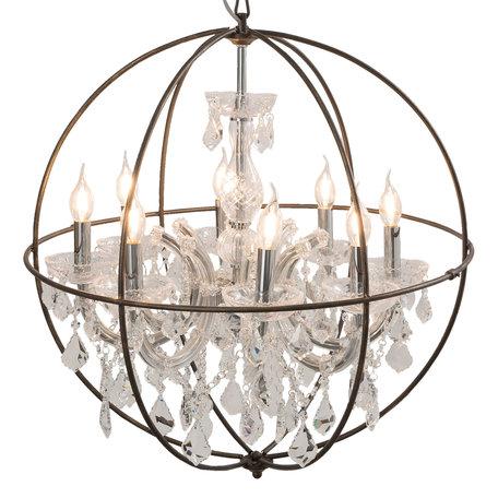 Hanglamp ø 66*70/190 cm E14/max 8*40W Transparant | 5LL-CR120 | Clayre & Eef
