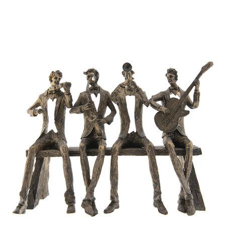 Decoratie Muzikanten 37*16*26 cm Bruin | 6PR2435 | Clayre & Eef