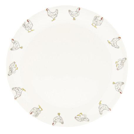 Klein bord ø 20 cm Creme | LCHDP | Clayre & Eef