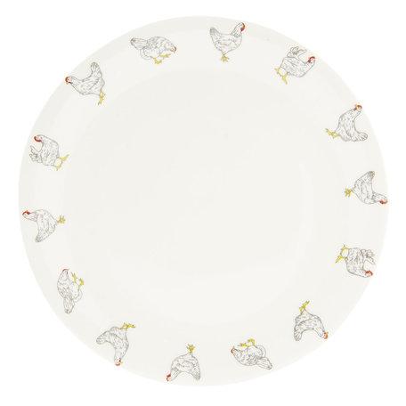 Groot bord ø 28 cm Creme | LCHFP | Clayre & Eef