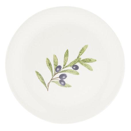 Klein bord ø 20 cm Wit | OLGDP | Clayre & Eef