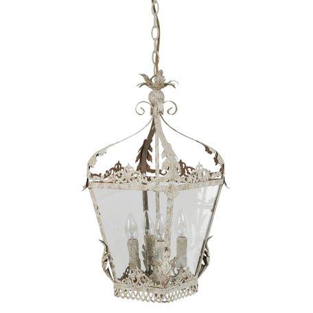 Hanglamp 29*29*58 cm E14/max 4*25W Creme | 40535N | Clayre & Eef