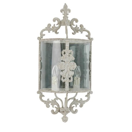 Wandlamp 33*19*72 cm E14/max 2*25W Creme | 40544N | Clayre & Eef