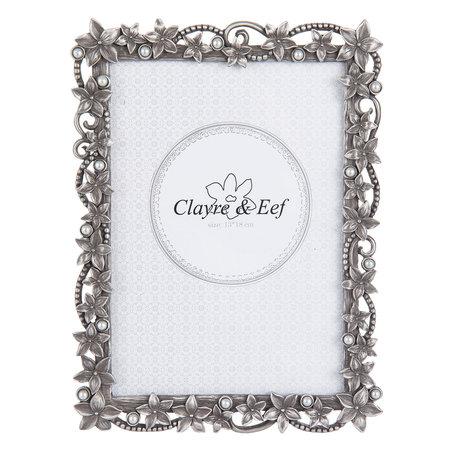 Fotolijst 16*2*21 cm / 13*18 cm Zilverkleurig | 2F0527L | Clayre & Eef