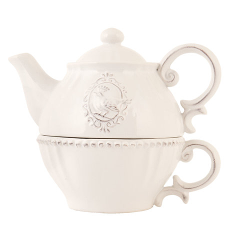 Tea for one set 18*12*16 cm Creme | 6CE0371 | Clayre & Eef