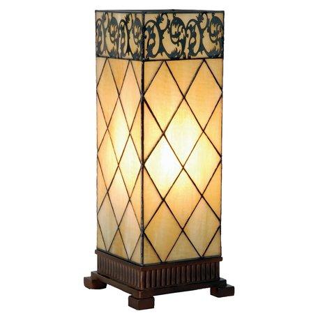 Tafellamp Tiffany 18*18*45 cm E27/max 1*40W Creme | 5LL-1139 | Clayre & Eef