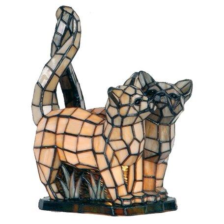 Tafellamp Tiffany 27*18*35 cm E14/max 1*40W Creme | 5LL-1187 | Clayre & Eef