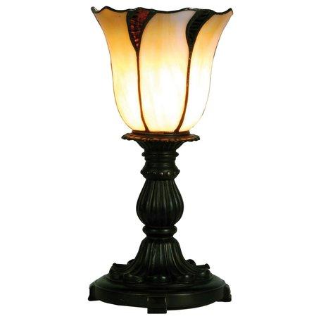 Tafellamp Tiffany ø 16*32 cm E14/max 1*25W Creme | 5LL-5136 | Clayre & Eef