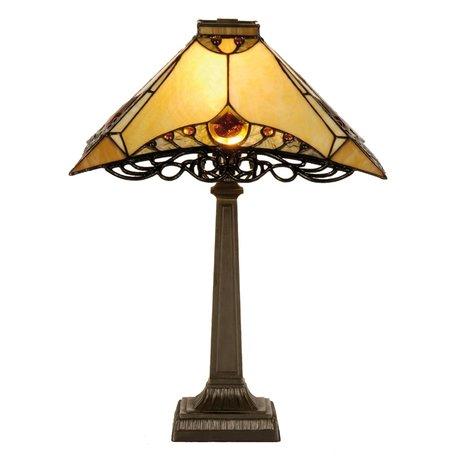 Tafellamp Tiffany 36*36*50 cm E14/max 1*40W Bruin | 5LL-5313 | Clayre & Eef