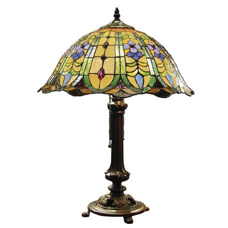 Tafellamp Tiffany ø 40*53 cm E27/max 2*60W Meerkleurig | 5LL-5317 | Clayre & Eef
