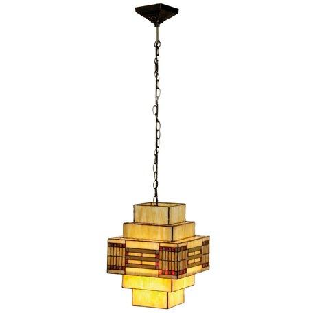 Hanglamp Tiffany 30*30*144 cm E27/max 1*60W Multi   5LL-5514   Clayre & Eef