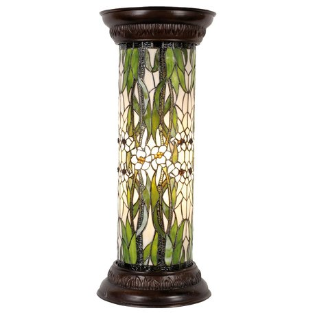 Zuil Tiffany ø 31*78 cm E27/max 1*60W Meerkleurig | 5LL-5539 | Clayre & Eef