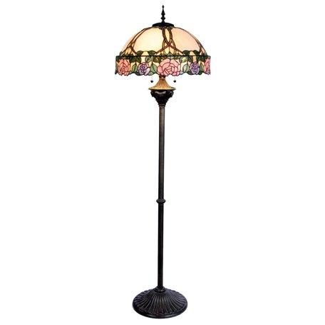 Vloerlamp Tiffany ø 50*164 cm E27/max 3*60W Meerkleurig | 5LL-5612 | Clayre & Eef