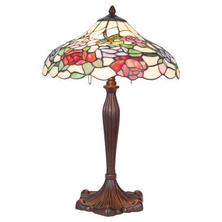 Tafellamp Tiffany ø 40*60 cm E27/max 1*60W Meerkleurig | 5LL-5766 | Clayre & Eef