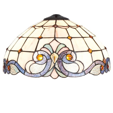 Lampenkap Tiffany ø 40*21 cm Meerkleurig | 5LL-5807 | Clayre & Eef