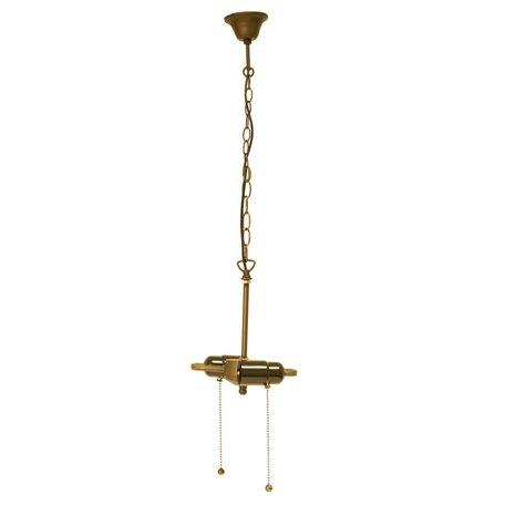 Ketting trekfitting Tiffanykap 15*16*160 cm E27/max 2*60W Bruin | 5LL-98.2 | Clayre & Eef
