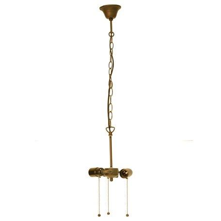 Ketting trekfitting Tiffanykap ø 19*160 cm E27/max 3*60W Bruin | 5LL-98.3 | Clayre & Eef