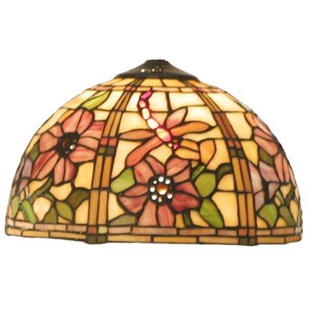 Lampenkap Tiffany ø 30*18 cm Meerkleurig | 5LL-9932 | Clayre & Eef