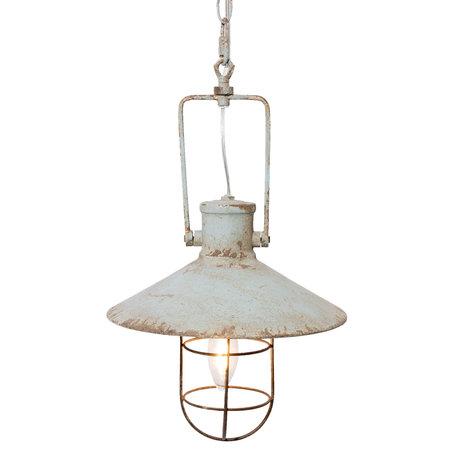Hanglamp ø 27*44 cm E14/max 1*25W Grijs | 6LMP501 | Clayre & Eef