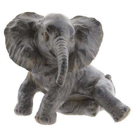 Decoratie olifant 20*19*17 cm Grijs | 6PR2403 | Clayre & Eef
