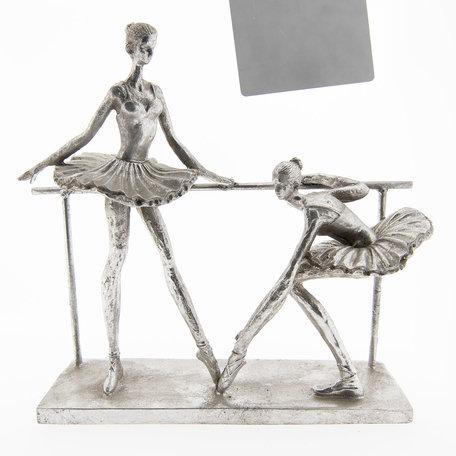 Decoratie figuur ballerina 30*10*28 cm Zilverkleurig | 6PR2436 | Clayre & Eef