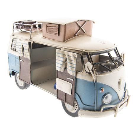 VW bus model licentie 27*12*16 cm Blauw | 6Y2981 | Clayre & Eef