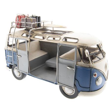 VW bus model licentie 27*12*17 cm Blauw | 6Y2986 | Clayre & Eef