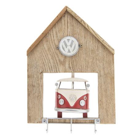 VW bus sleutelrek licentie 26*5*37 cm Bruin | 6Y2990 | Clayre & Eef