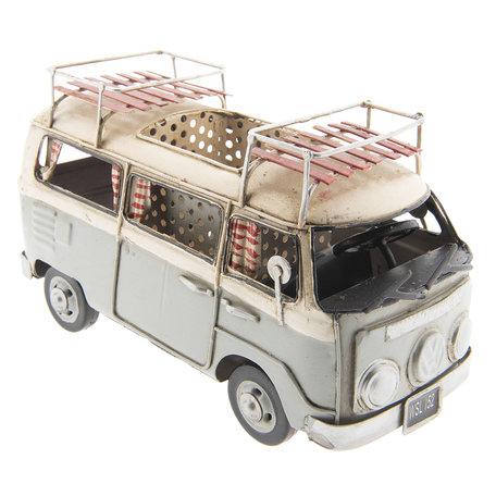 VW bus model licentie 19*10*12 cm Grijs | 6Y2991 | Clayre & Eef
