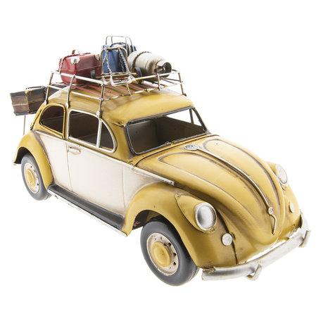 VW kever model auto licentie 35*13*17 cm Geel | 6Y2992 | Clayre & Eef