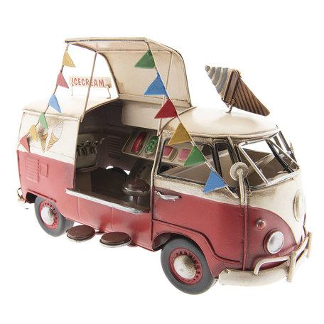 VW bus model licentie 27*15*17 cm Rood | 6Y2994 | Clayre & Eef