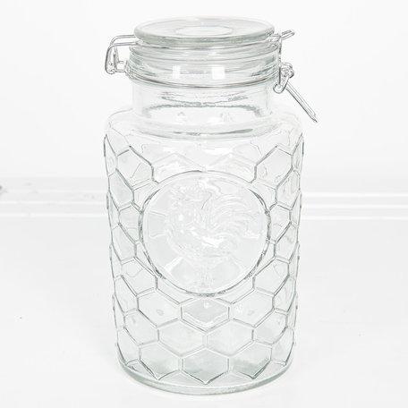 Voorraadpot met deksel ø 13*24 cm / 1900 ml Transparant | 6GL2406L | Clayre & Eef