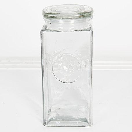 Voorraadpot met deksel 10*10*23 cm / 1700 ml Transparant | 6GL2407L | Clayre & Eef