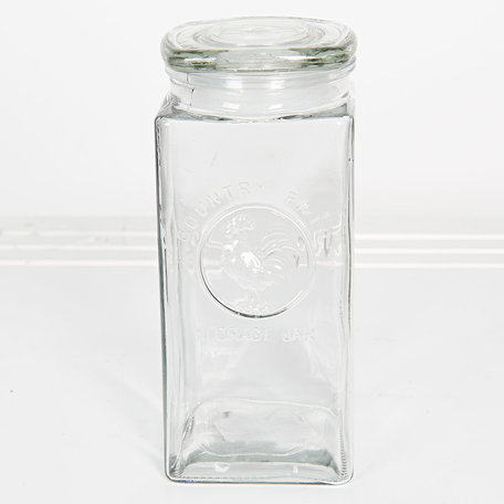 Voorraadpot met deksel 10*10*23 cm / 1.7L Transparant | 6GL2407L | Clayre & Eef
