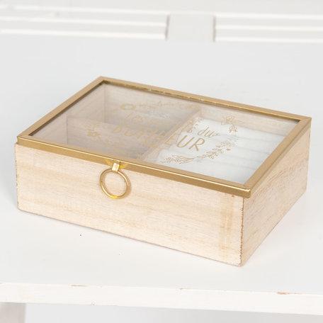 Juwelendoosje 18*6*13 cm Bruin | 6H1727 | Clayre & Eef