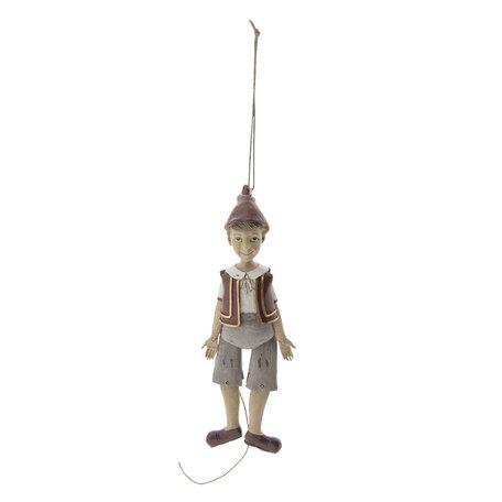 Hanger Pinokkio 6*4*19 cm Multi | 6PR2416 | Clayre & Eef