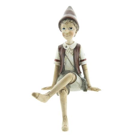 Decoratie figuur Pinokkio 13*12*23 cm Multi | 6PR2419 | Clayre & Eef