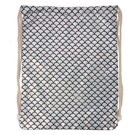 Rugzak 40*32 cm Zilverkleurig | JZBG0183 | Clayre & Eef
