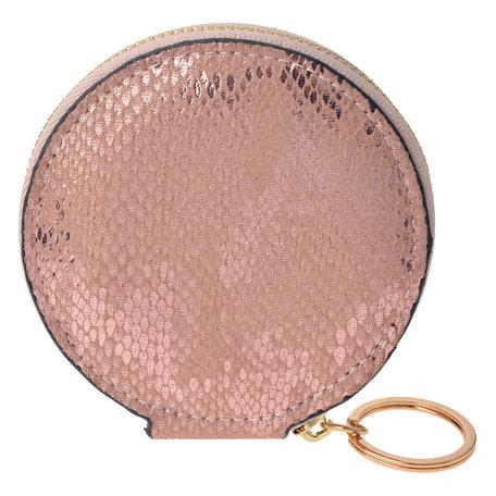 Sleutelbeursje 9*9*2 cm Roze   JZKW0017P   Clayre & Eef