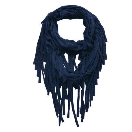 Sjaal 40*150 cm Blauw | JZSC0391BL | Clayre & Eef
