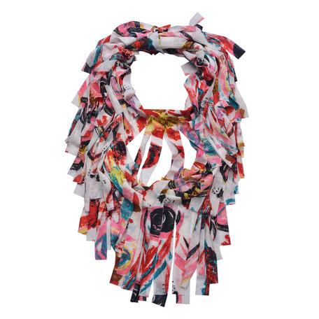 Sjaal 30*150 cm Meerkleurig | JZSC0392 | Clayre & Eef
