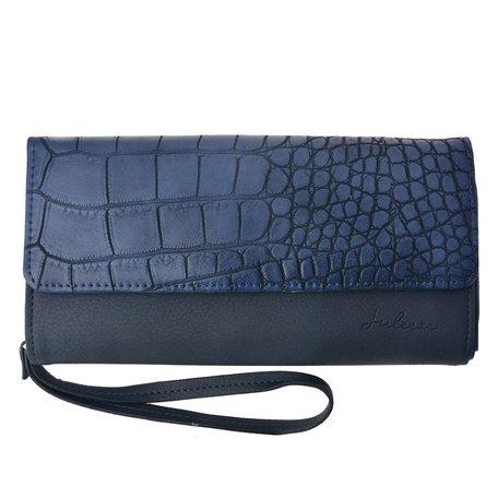 Portemonnee 20*10.5 cm Blauw | JZWA0049BL | Clayre & Eef